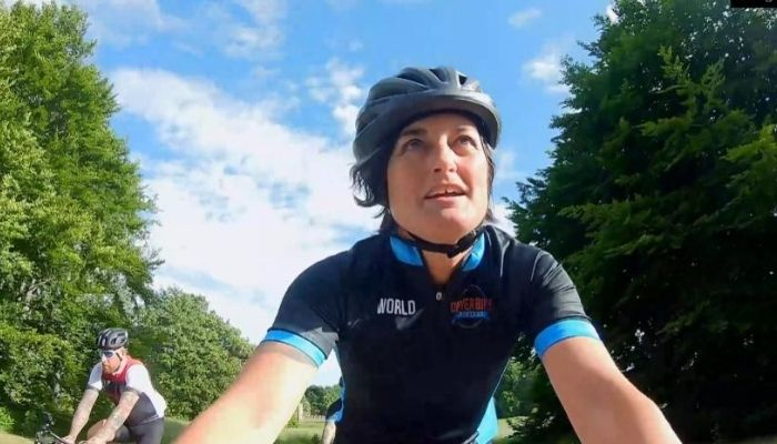"""Zoe Lyons stars in """"On Yer Bike for Soccer Aid""""on ITV this Sunday"""