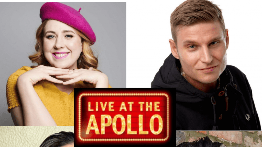 Helen Bauer, Adam Rowe, Scott Bennet and Zoe Lyons film Live At The Apollo